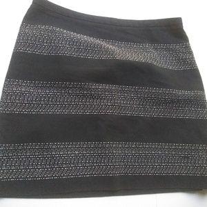 LOFT Black w/ White Stripes Cotton Lined Short Ski
